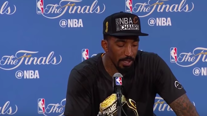 VIDEO: JR Smith Emotional Interview After Game 7 Win!