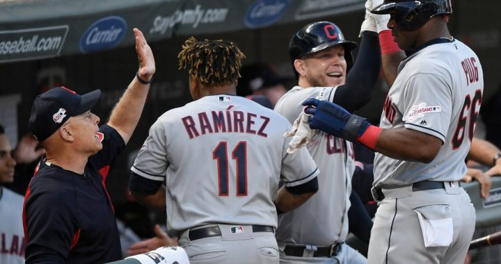 Indians Take the First Game Against the Twins in a Nail Biter