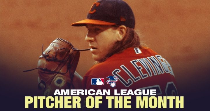 Watch: Clev AL Pitcher of the Month