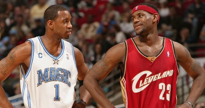 VIDEO: Rookie LeBron Puts on a Show Against T-Mac!